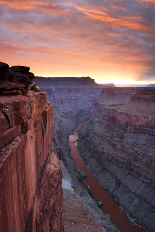 north rim of the grand canyon - colorado river