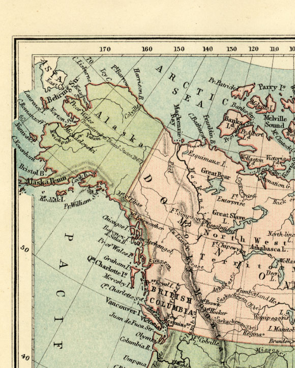northwest north america map