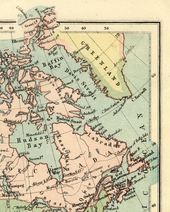 northeast north america map