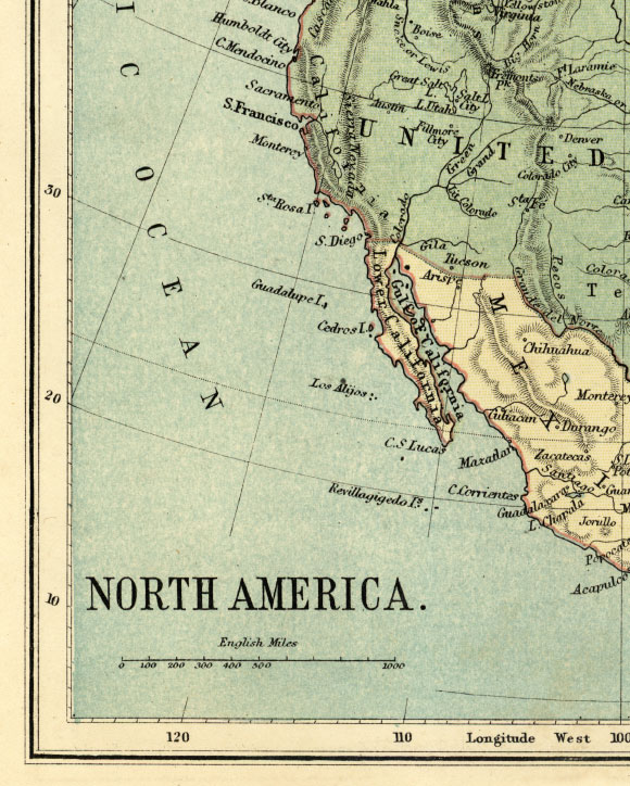 southwest north america map