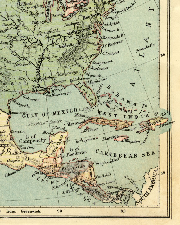 southeast north america map